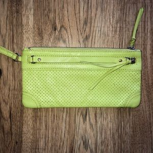 Banana Republic Green Wristlet